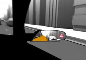 The Blind Spot Detection (BSD) function warns the driver when there are vehicles in the blind spot of the side-view mirror.