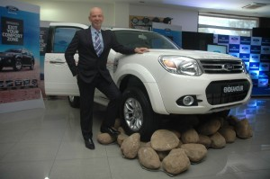 Nigel Harris, President Ford India with Newly Launched 2014 Ford Endeavor