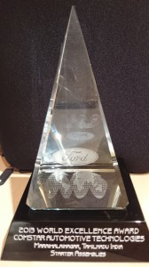 Comstar Automotive gets Silver at Ford Global Supplier Excellence Award 2013