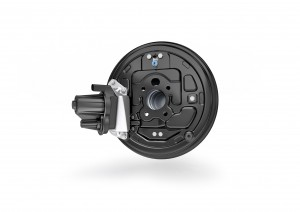 The system consists of two actuators which are integrated into the drum-brake base panel on the rear axle, in addition to its control software