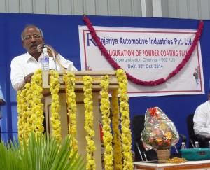 Wabco India Managing Director P Kaniappan addressing the gathering