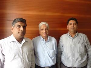 S Seetharaman is flanked by S Muralishankar and S Ravishankar