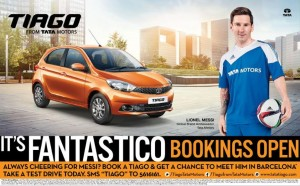 Tata motors open bookings for new compact hatchback TIAGO