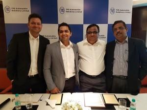 L-R: Ravi Kumar Neeladri, CEO & Founder, Redsun Consultants; Sunil Dhingra, CEO & Founder, Jazzmyride.com; G Srinivasa Raghavan, ED, TVS ASL and S Swaminathan, CEO & Co-Founder, Hansa Cequity.