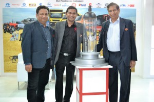 Amit Mahipal Gupta with Adarsh Mahipal Gupta - Director Mktg & Finance and Mahipal Gupta, CMD, Autolite