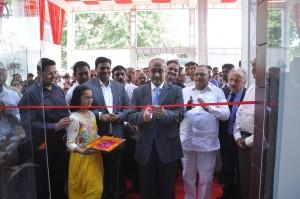 Koshy Varghese, Executive Vice President Marketing, MRF Limited inaugurating MRF TireTok at Ahmedabad