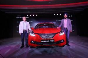 Maruti Suzuki forays into high performance segment with Baleno RS. K Ayukawa MD & CEO and R S Kalsi, ED unveil the car