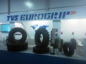 TVS Srichakra showcases TVS Eurogrip range at CONEXPO 2017
