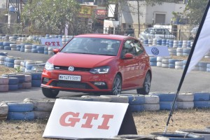 Volkswagen customers experiencing the GTI at a specially curated customer event in Chennai