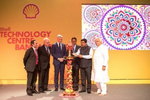 Nitin Prasad, Chairman, Shell Companies in India, His Excellency Alphonsus Stoelinga,  Ambassador of Netherlands to India, Harry Brekelmans, Shell's Projects & Technology Director, Member of the Executive Committee of Shell Chief Guest  Dharmendra Pradhan, Minister for Petroleum and Natural Gas, Govt of India, R.V. Deshpande, Minister for Industries, Government of Karnataka
