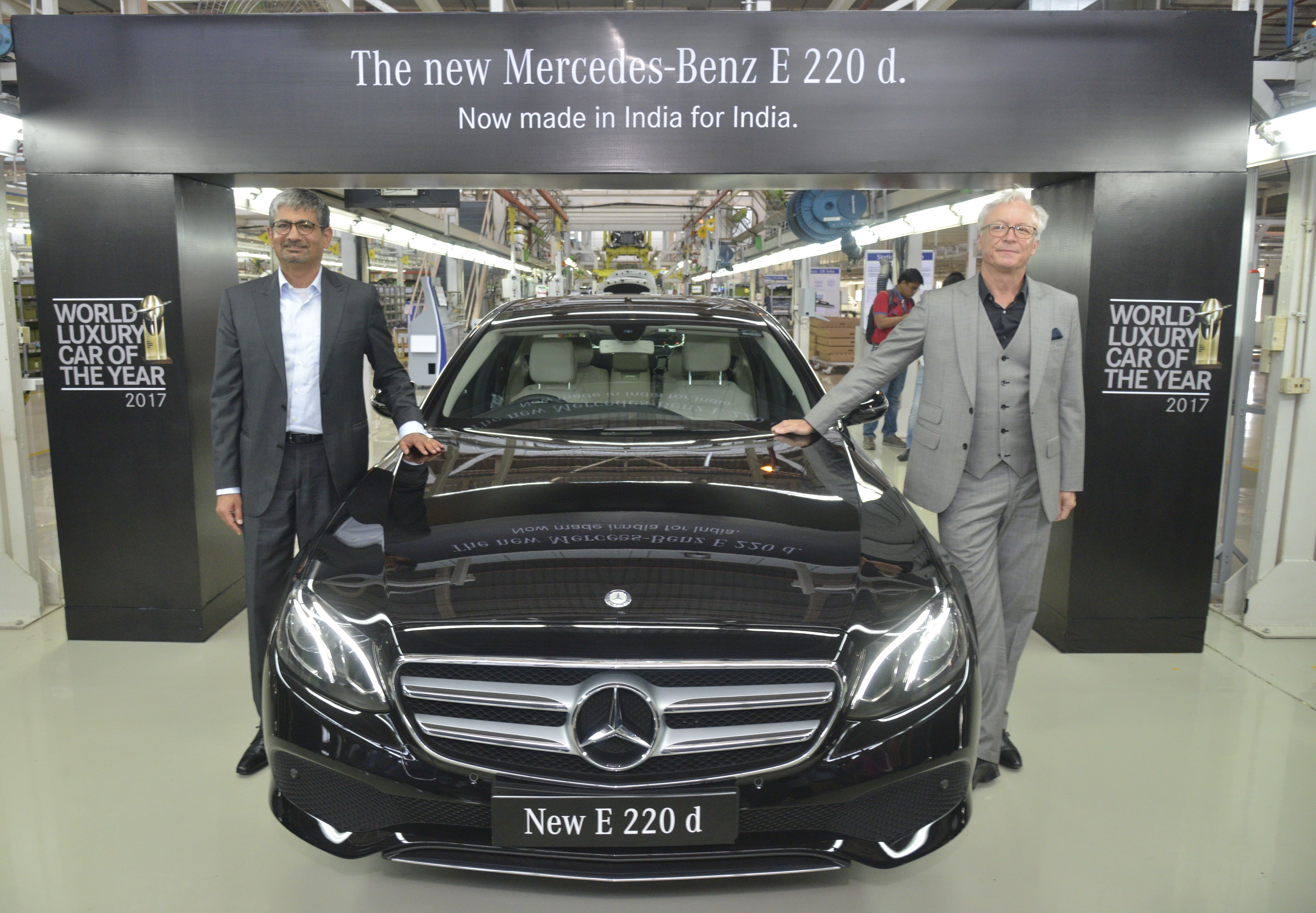 Mercedes-Benz launches the \'Made in India\' E-Class 220 d - Auto ...