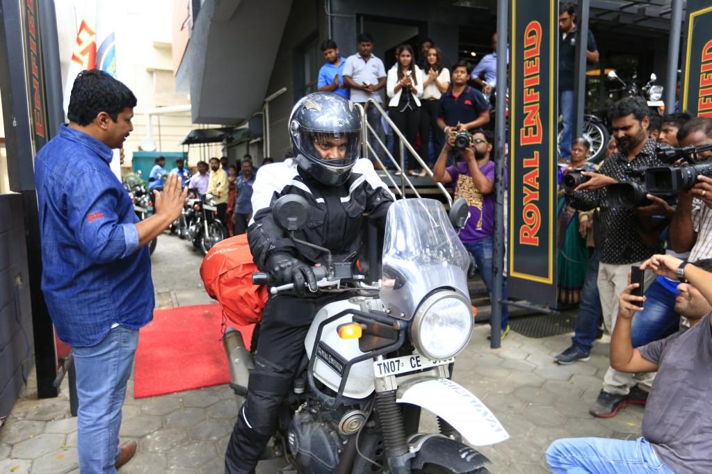 Motorcycle Enthusiast Kedarnath embarks on his world tour on a Royal Enfield Himalayan