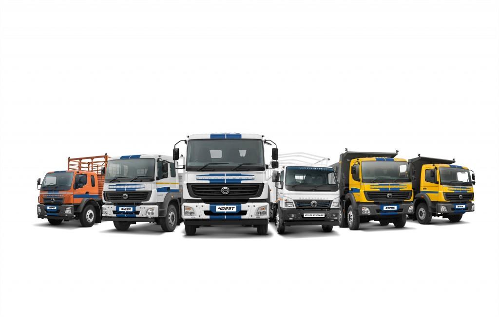 BharatBenz Trucks lineup