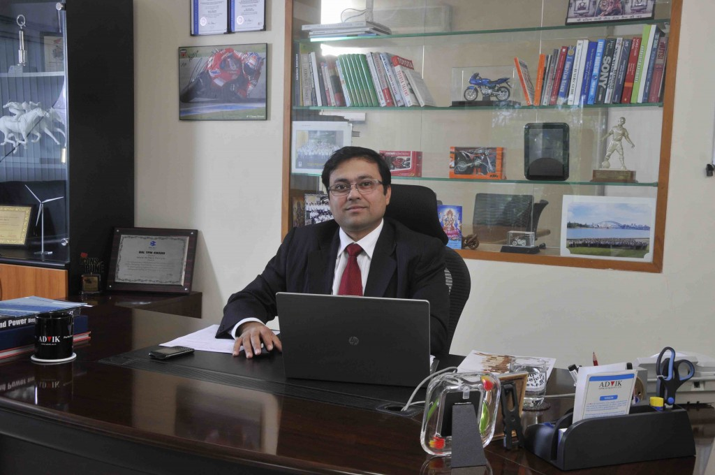Mr. Aditya Bhartia, Managing Director, ADVIK Group of Companies