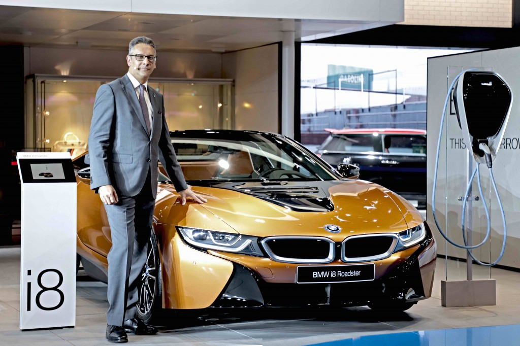 Mr. Vikram Pawah with the all-new BMW i8 Roadster