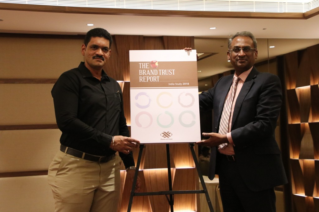 Sachin Bhosle Research Director TRA and N Chandramouli CEO, TRA Research  launching TRA Report 2018