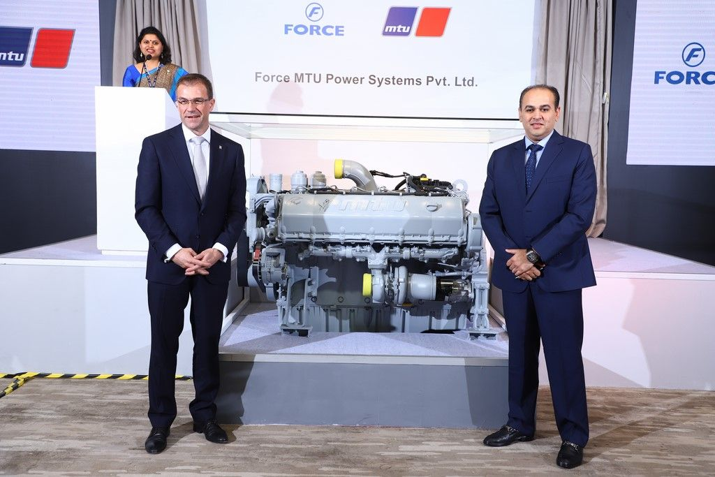Andreas Schell, President and CEO of Rolls-Royce Power Systems AG and Prasan Firodia, Managing Director, Force Motors