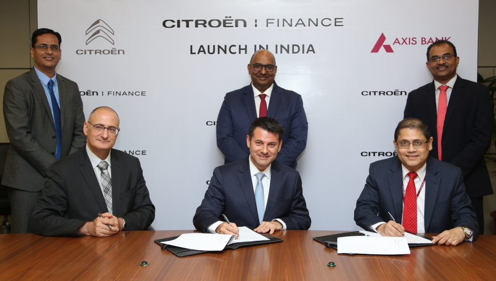 Citroën partners with Axis Bank