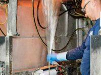 Glass fiber production at LANXESS site Kallo, Antwerpen